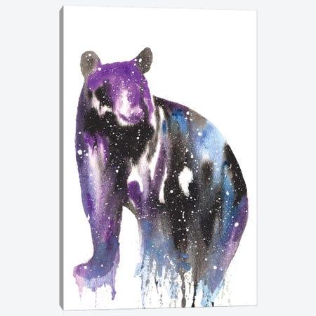 Cosmic Black Bear 3-Piece Canvas #TCA8} by Tanya Casteel Canvas Art Print