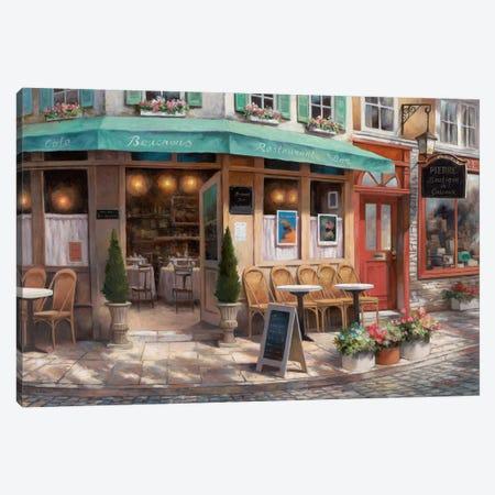 Café Beauchons 3-Piece Canvas #TCC10} by T.C. Chiu Canvas Art Print