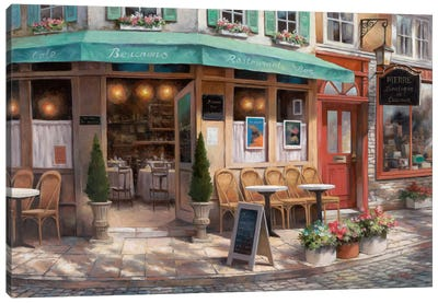 Café Beauchons Canvas Art Print