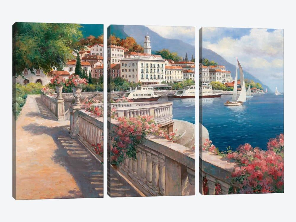 Lago di Como I by T.C. Chiu 3-piece Canvas Art