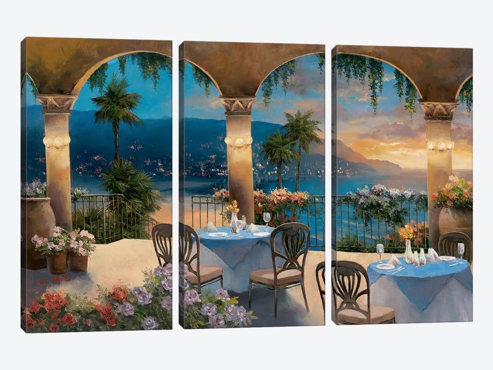Amalfi Holiday I by T.C. Chiu 3-piece Canvas Print