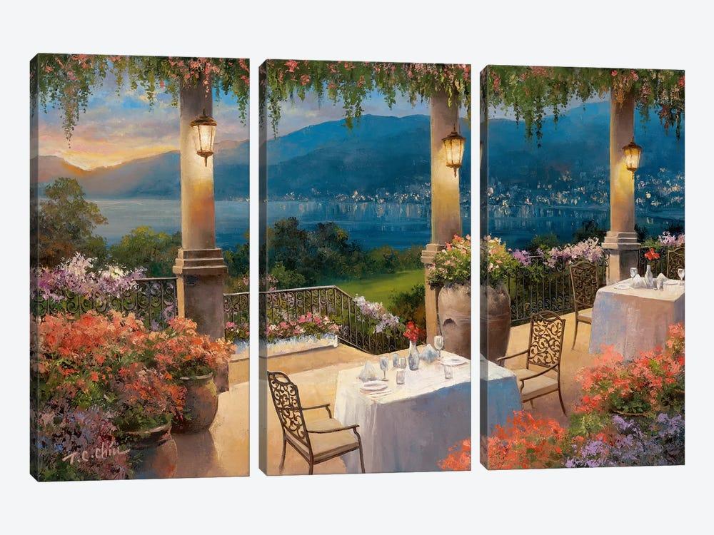 Amalfi Holiday II by T.C. Chiu 3-piece Canvas Wall Art