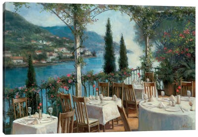 Amalfi Terrace Canvas Art Print
