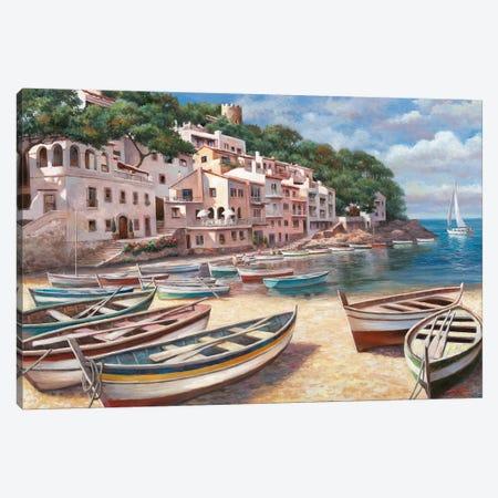 Bella Mattina I 3-Piece Canvas #TCC6} by T.C. Chiu Canvas Artwork