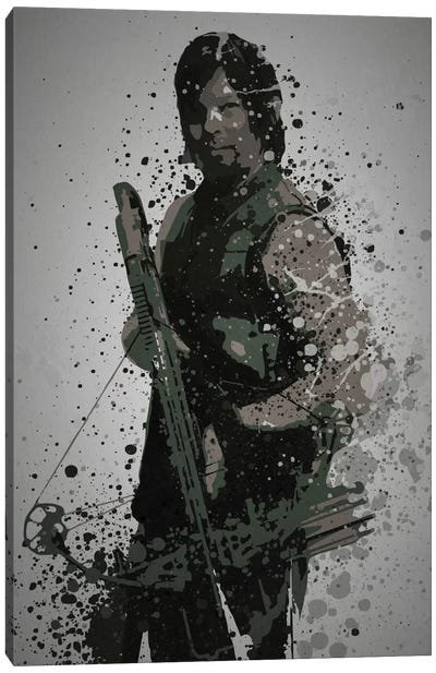 Pop Culture Splatter Series: Archer Canvas Print #TCD10