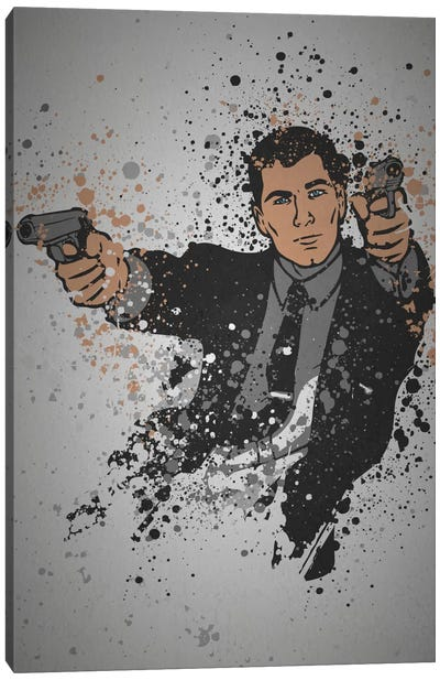 Pop Culture Splatter Series: Danger Zone Canvas Print #TCD12