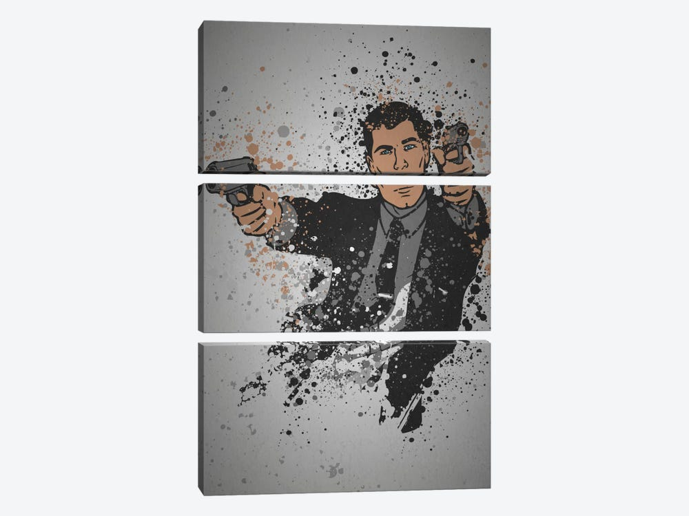 Danger Zone by TM Creative Design 3-piece Canvas Art