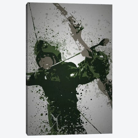 Emerald Archer Canvas Print #TCD18} by TM Creative Design Canvas Wall Art