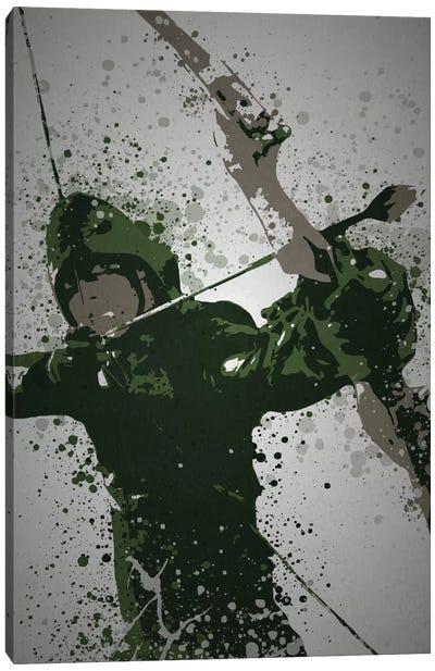 Pop Culture Splatter Series: Emerald Archer Canvas Print #TCD18