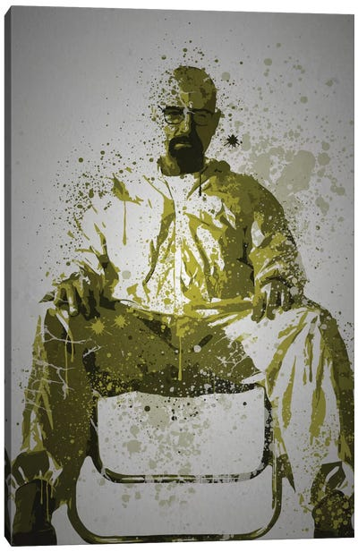 Pop Culture Splatter Series: Heisenberg Canvas Print #TCD22