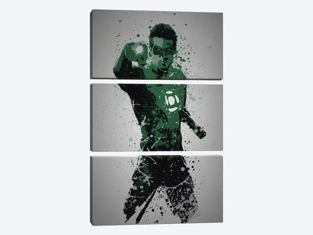 In Brightest Day, In Blackest Night by TM Creative Design 3-piece Canvas Print