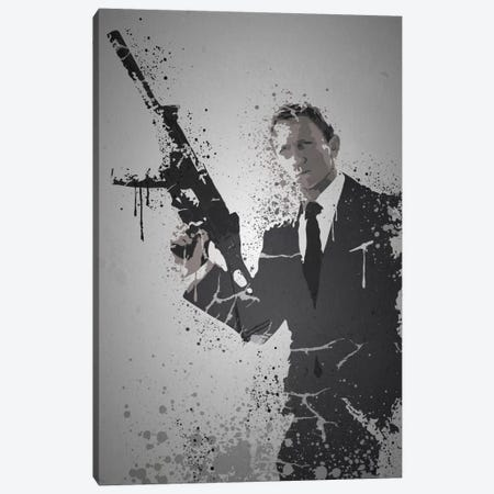 Licence To Kill Canvas Print #TCD28} by TM Creative Design Canvas Art Print