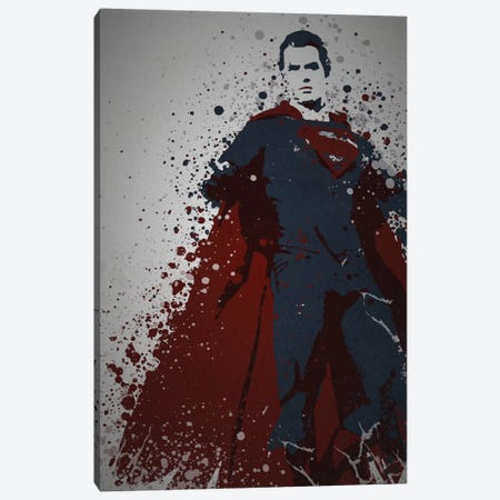 Man Of Steel Canvas Print #TCD31} by TM Creative Design Canvas Art