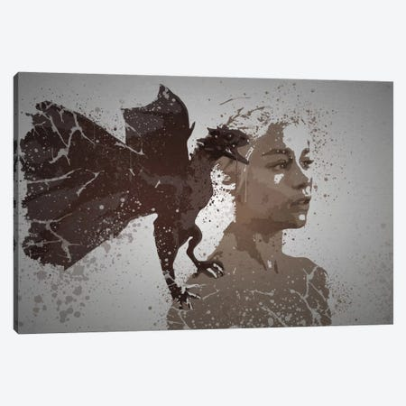 Mother Of Dragons Canvas Print #TCD34} by TM Creative Design Canvas Art Print