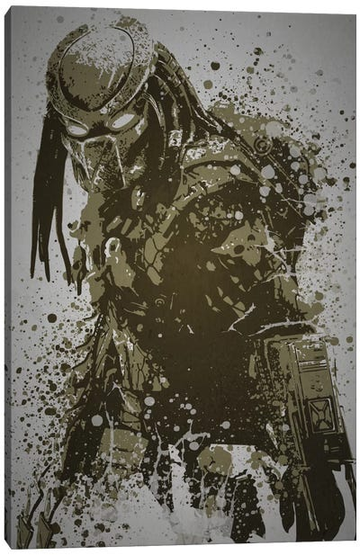 Pop Culture Splatter Series: Predator Canvas Print #TCD36