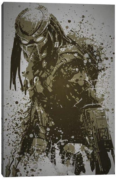 Pop Culture Splatter Series: Predator Canvas Print #TCD36