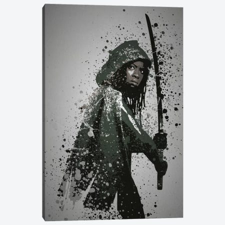 Samurai Canvas Print #TCD39} by TM Creative Design Canvas Wall Art