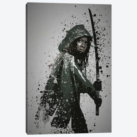 Samurai Canvas Print #TCD39} by TM Creative Design Canvas Wall Art