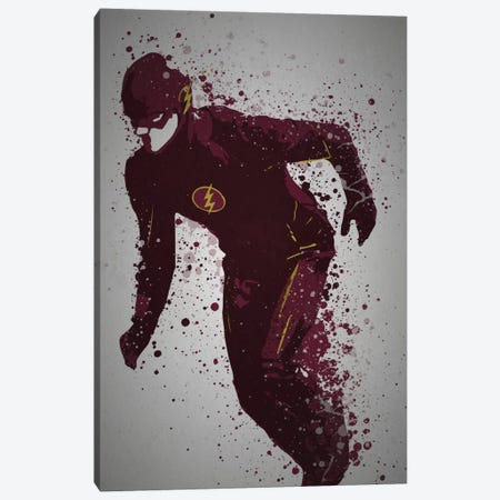 Scarlet Speedster Canvas Print #TCD41} by TM Creative Design Art Print
