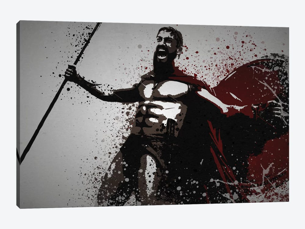 This Is Sparta! by TM Creative Design 1-piece Canvas Art Print