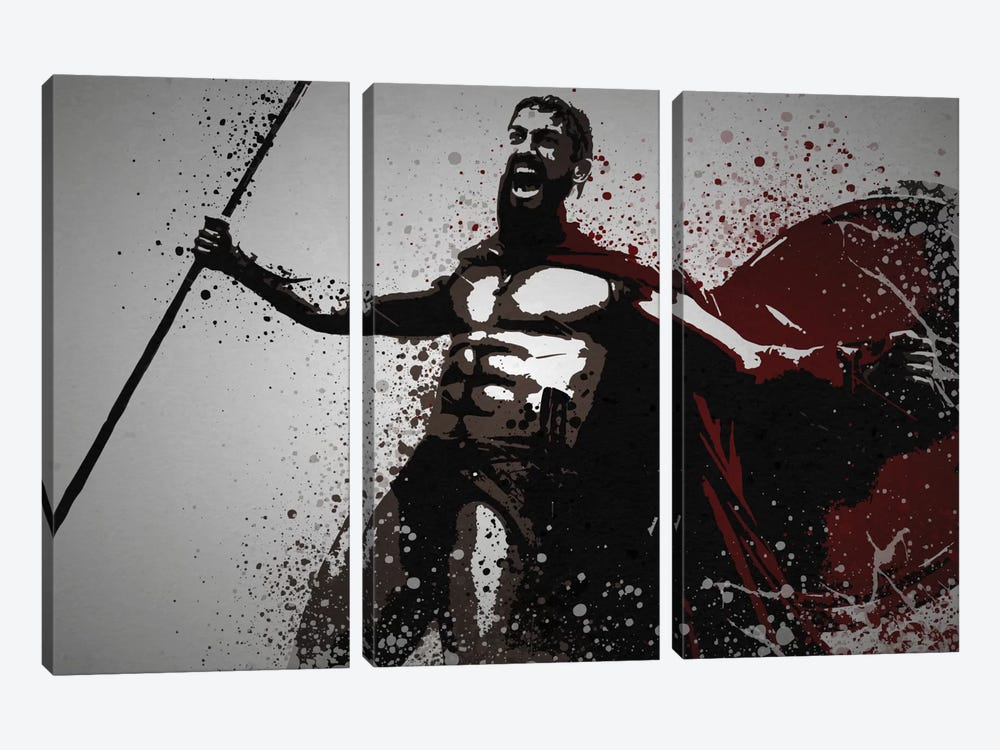 This Is Sparta! by TM Creative Design 3-piece Art Print