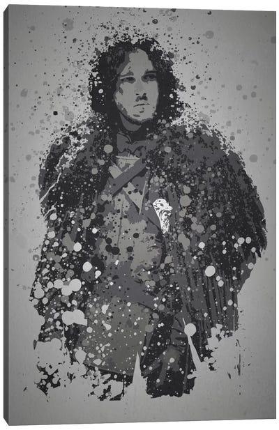 Pop Culture Splatter Series: Winter Is Coming Canvas Print #TCD48