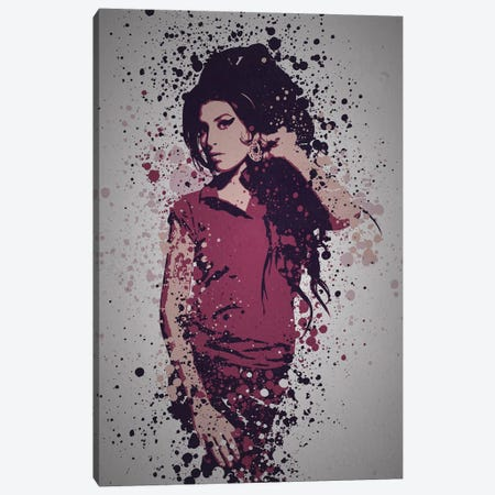 Amy Winehouse Canvas Print #TCD50} by TM Creative Design Canvas Art