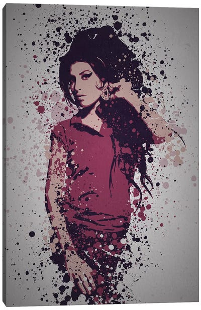 Amy Winehouse by TM Creative Design Canvas Art Print