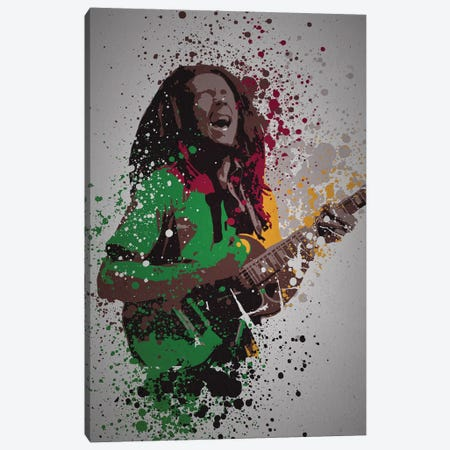Bob Marley Canvas Print #TCD51} by TM Creative Design Canvas Art