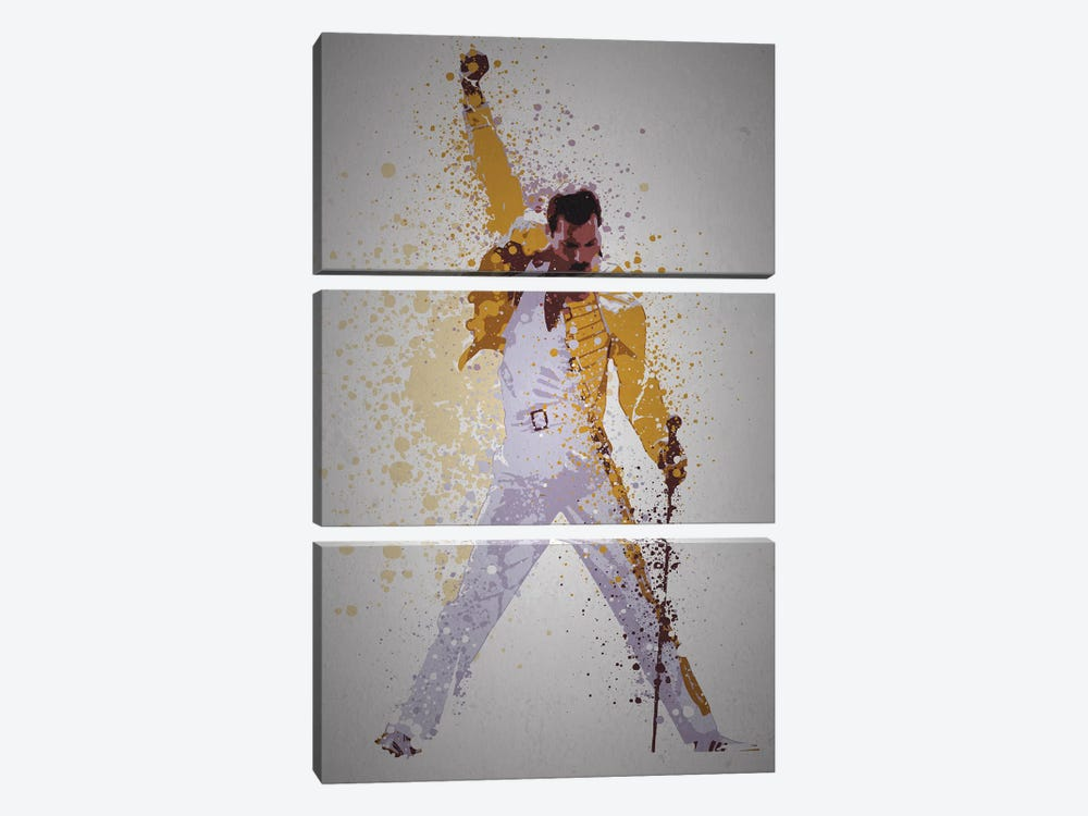 Freddie Mercury by TM Creative Design 3-piece Canvas Art