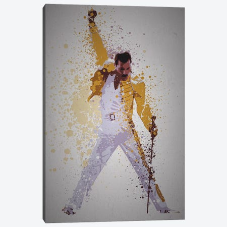 Freddie Mercury Canvas Print #TCD54} by TM Creative Design Canvas Art Print