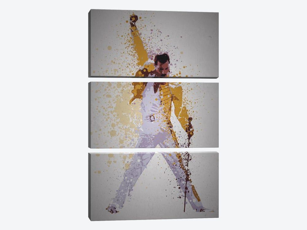 Freddie Mercury by TM Creative Design 3-piece Canvas Art
