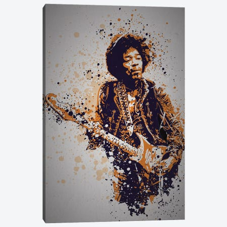 Jimi Hendrix Canvas Print #TCD55} by TM Creative Design Canvas Art Print