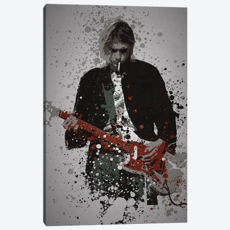 Kurt Cobain Canvas Print #TCD56} by TM Creative Design Art Print