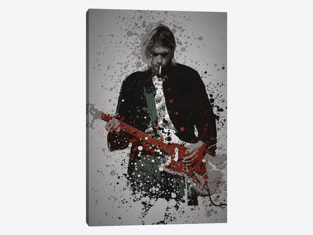 Kurt Cobain by TM Creative Design 1-piece Canvas Wall Art