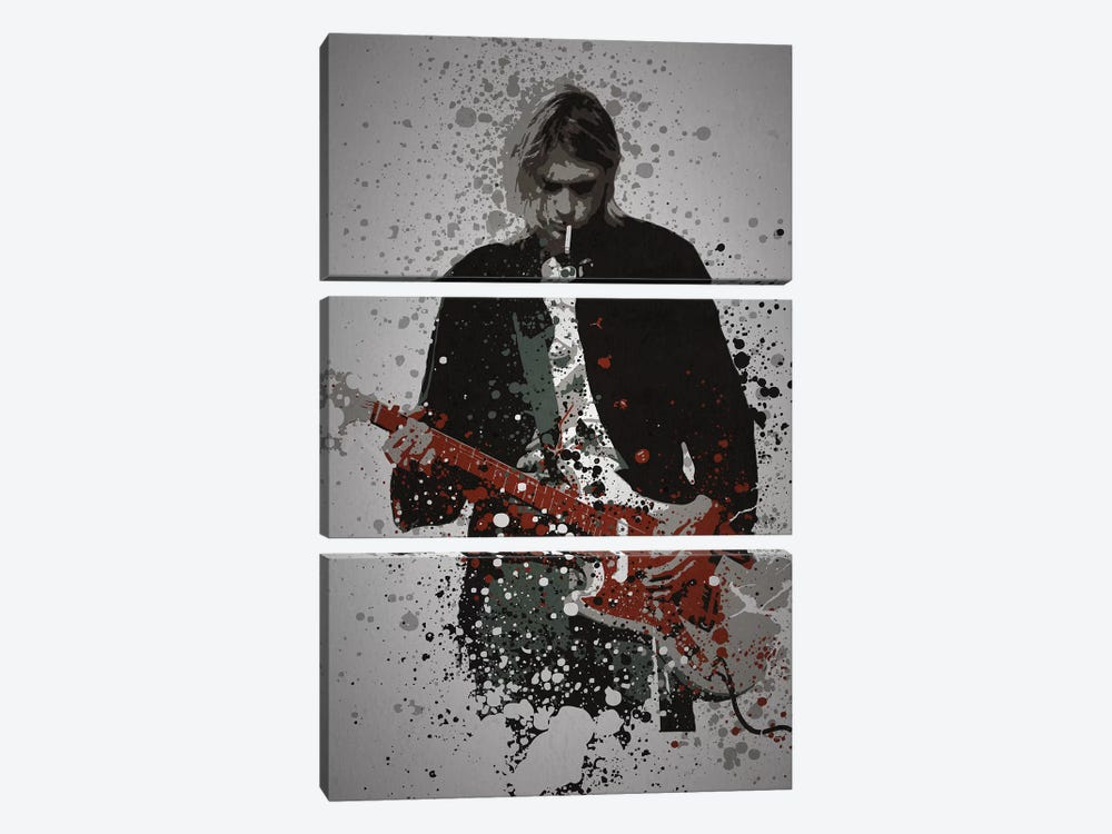 Kurt Cobain by TM Creative Design 3-piece Canvas Artwork