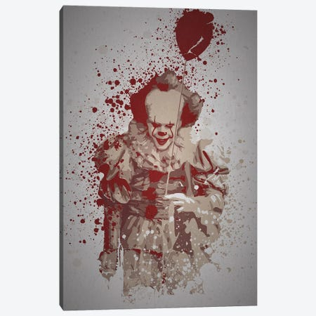 Pennywise Canvas Print #TCD60} by TM Creative Design Art Print