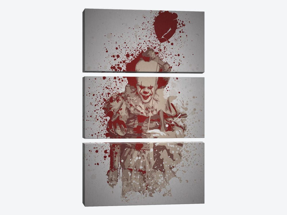 Pennywise by TM Creative Design 3-piece Canvas Art Print
