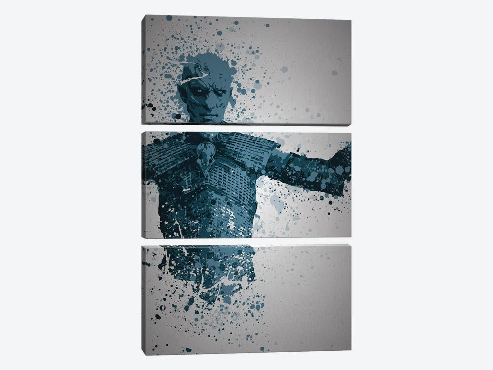 White Walker by TM Creative Design 3-piece Canvas Print