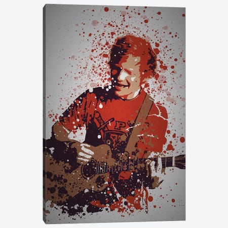 Ed Sheeran Canvas Print #TCD66} by TM Creative Design Canvas Art