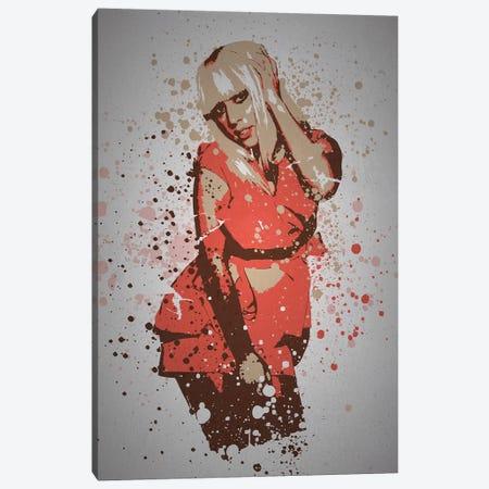 Lady Gaga Canvas Print #TCD67} by TM Creative Design Canvas Wall Art