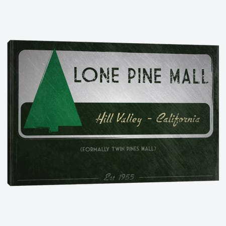 Lone Pine Mall (Back To The Future) Canvas Print #TCD70} by TM Creative Design Canvas Artwork