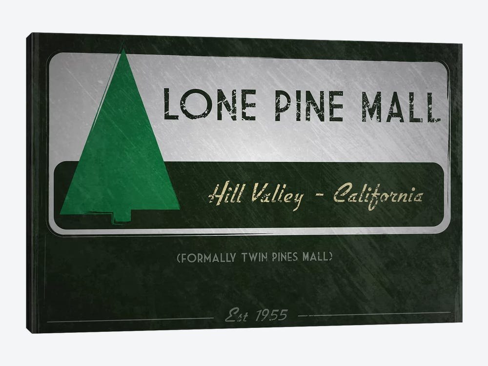 Lone Pine Mall (Back To The Future) by TM Creative Design 1-piece Canvas Artwork