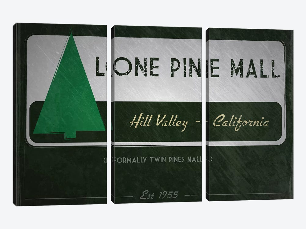 Lone Pine Mall (Back To The Future) by TM Creative Design 3-piece Canvas Artwork