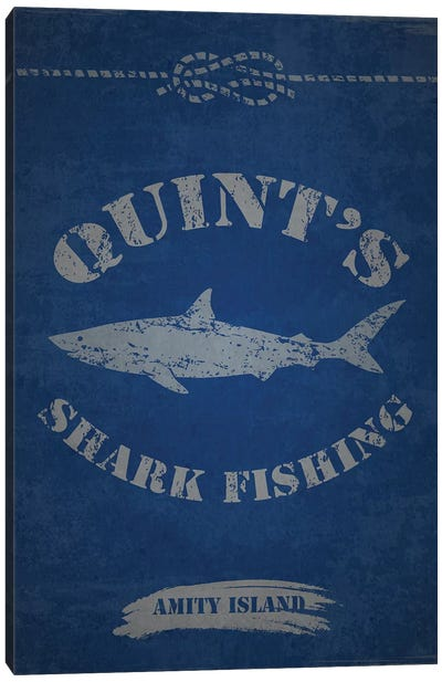 Quint's Shark Fishing (Jaws) by TM Creative Design Canvas Art Print