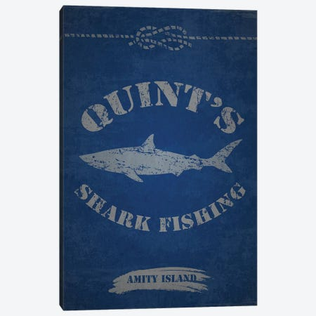 Quint's Shark Fishing (Jaws) 3-Piece Canvas #TCD71} by TM Creative Design Canvas Art