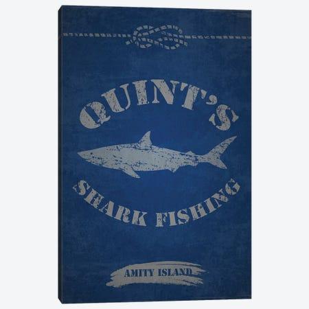 Quint's Shark Fishing (Jaws) Canvas Print #TCD71} by TM Creative Design Canvas Art