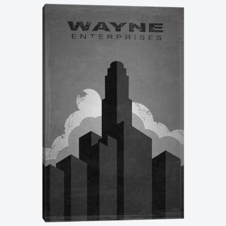 Wayne Enterprises (Batman) Canvas Print #TCD76} by TM Creative Design Art Print