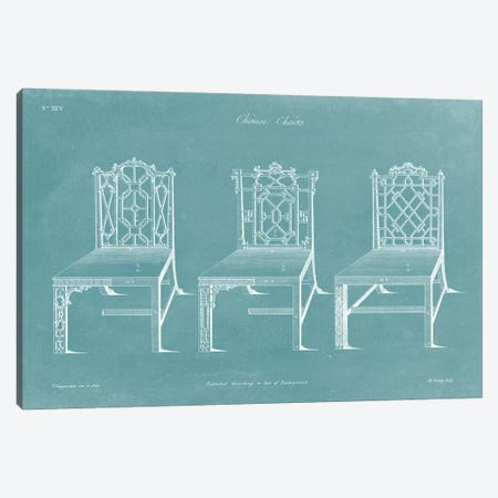 Design For A Chair I Canvas Print #TCH1} by Thomas Chippendale Canvas Artwork