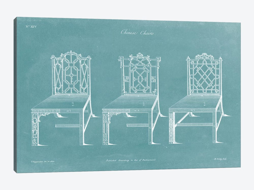 Design For A Chair I by Thomas Chippendale 1-piece Canvas Artwork